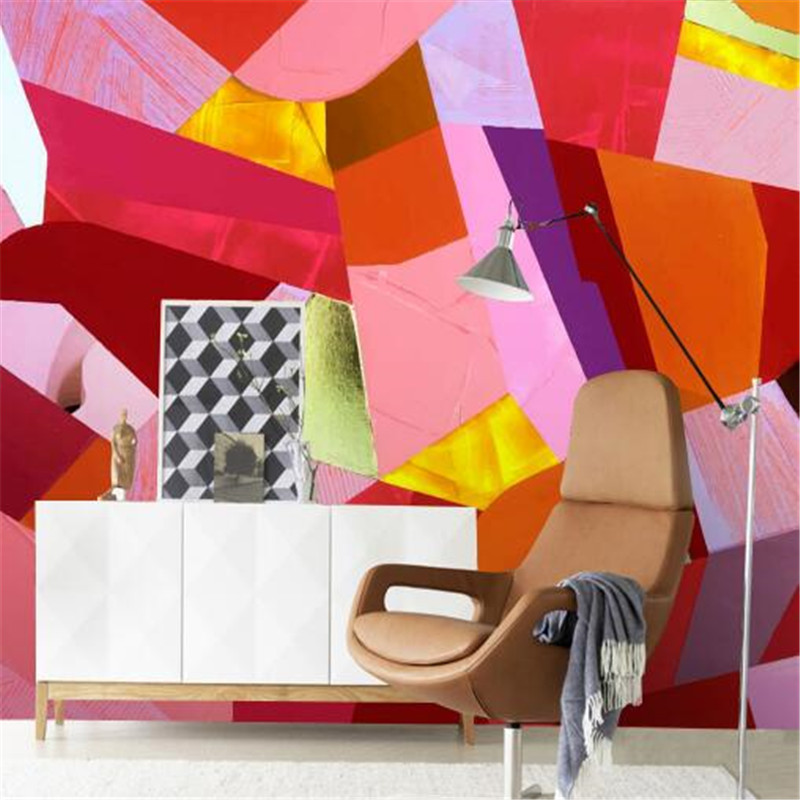 Graffiti Wall Paper for Walls 3D High Quality Non-Woven Wall Paper Color Wallpapers for KTV Theme Restaurant Geometric Figure modern personalized non woven wall paper roll exotic wallpapers geometric for bedroom living room walls wall mural paper contact