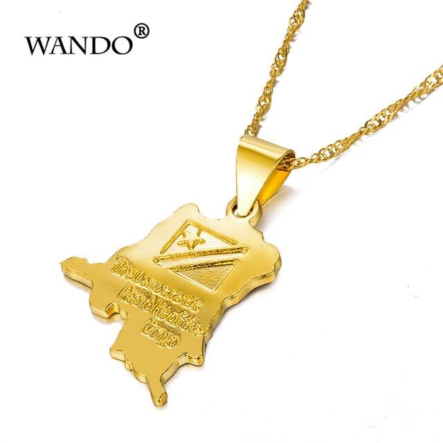 Купить wando трендовое ожерелье с маленькой картой из конго золотого картинки