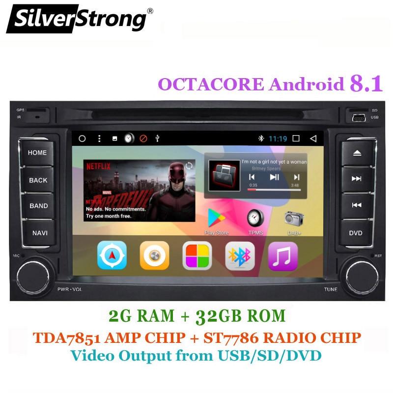 SilverStrong Android8.1 8 Core 1024*600 DVD De Voiture pour VolksWagen Touareg Radio Transporteur T5 avec option 4 core 16g TPMS DAB +
