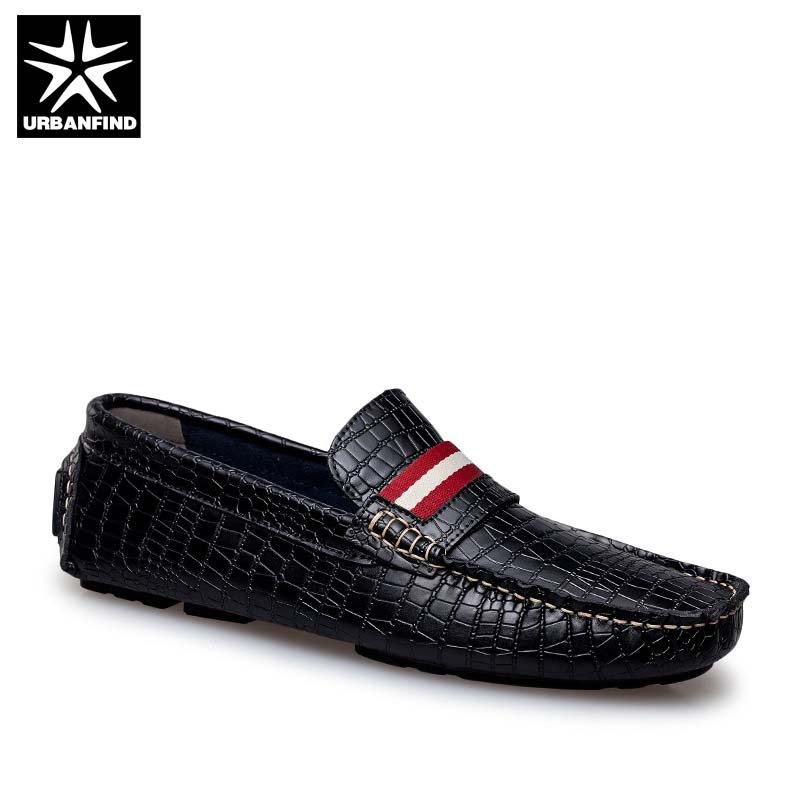 Big Size 36-47 Luxury Brand Men Genuine Leather Loafers Comfortable Soft Male Fashion Moccasins Driving Shoes Black Brown Red men luxury brand new genuine leather shoes fashion big size 39 47 male breathable soft driving loafer flats z768 tenis masculino