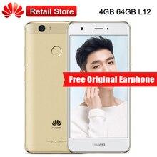 "Глобальный Huawei Nova телефон 4 ГБ Оперативная память 64 ГБ Встроенная память L12 4 г LTE 5.0 ""octa core 12.0MP 3020 мАч 1920*1080 Android 6.0 отпечатков пальцев OTG"