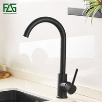 FLG Kitchen Faucet Black Brass 360 RotateMixer Faucet for Kitchen Single Handle Hot and Cold Kitchen Sink Faucets Mixer Tap 975