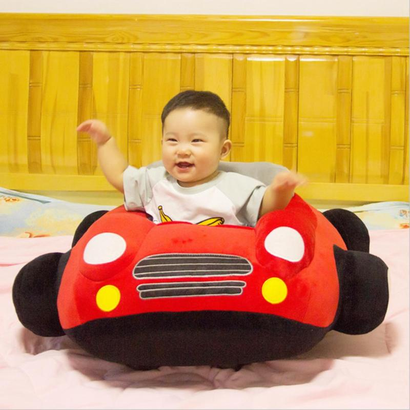 Baby Car Shape Seats Sofa Toys Infant Furniture Plush Seat Support Without Filler Kids Learn To Sit Training Chair Leather Case