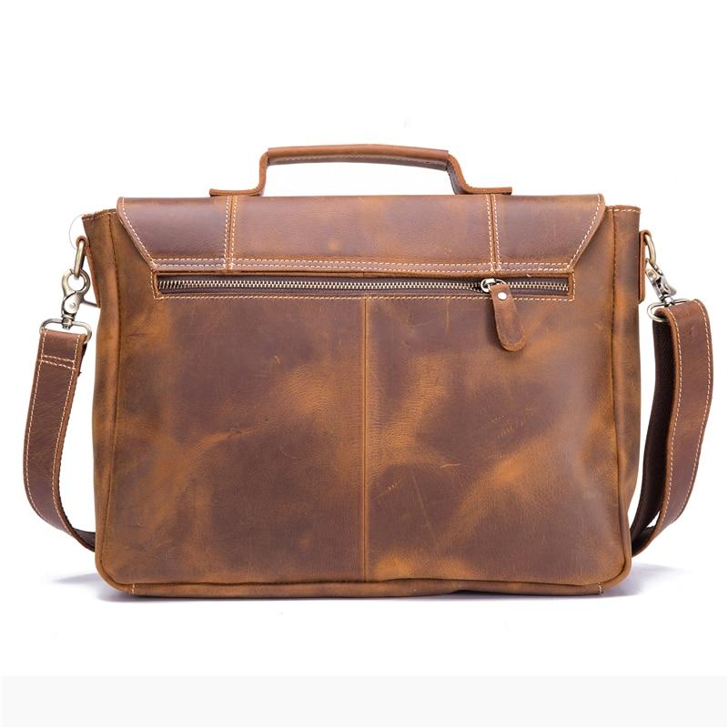 Мужской портфель из натуральной кожи из воловьей кожи в стиле ретро, мужская повседневная сумка мессенджер, сумки Bolsa, деловая сумка через плечо для мужчин - 4