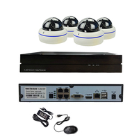 4CH POE Indoor Dome LED Night Vision 720P IP Camera Network Security Kit 4CH POE NVR