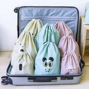 Ubrania kompresji torby do przechowywania liny worek odzież z tworzywa sztucznego do pakowania w worki Travel Space Saver wodoodporne torby na bagaż