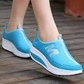 Nova chegada 2017 esportes de verão sapatos mulheres das sapatilhas rede de malha mulheres correndo sapatos sapatos de gaze respirável