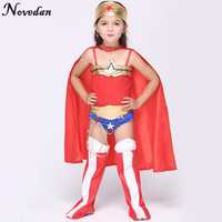 Halloween Superman Wonder Woman Children Party Cosplay Costumes Christmas Gift For Kids Girls Clothes Children S