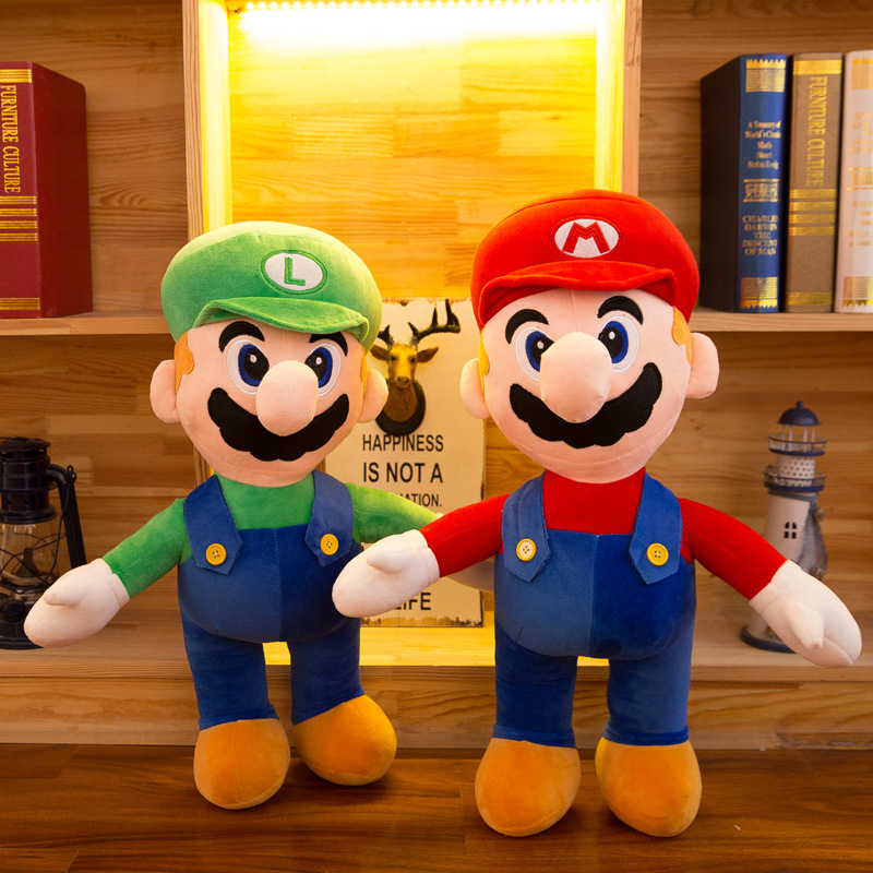 35 45 55CM Height Large super mario plush Doll Toy Kids Sleeping Back Cushion Cute Stuffed Mario Baby Accompany Doll Xmas Gift in Stuffed Plush Animals from Toys Hobbies