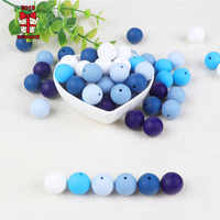 BOBO.BOX 10Pcs 9mm Round Silicone Beads Food Grade Material for DIY Baby Necklace Chewing Care Baby teether