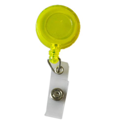 5X Retractable Ski Pass ID Card Badge Holder Key Chain Reels With Clip Yellow