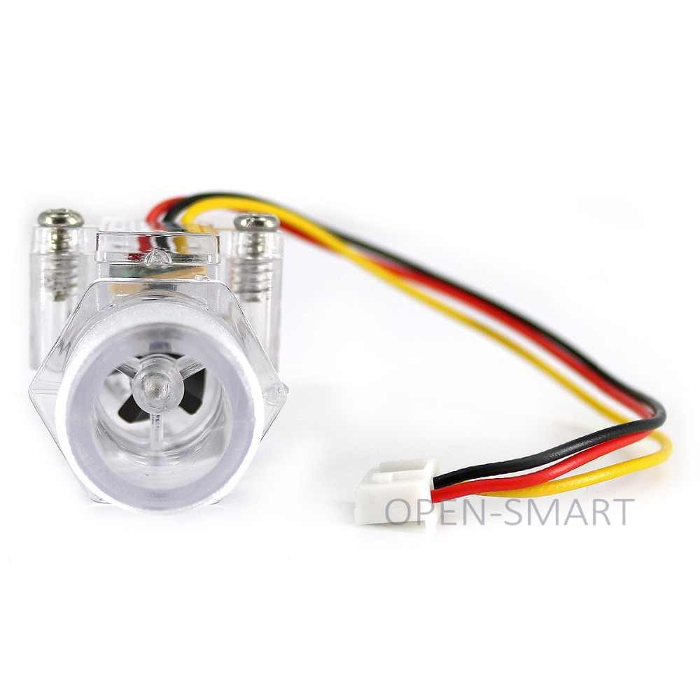 G1/2 Plastic Water Flow Sensor meter Turbine Hall Flowmeter for Arduino  Easy to Measure Water / Flow Rate with XH-3P Connector