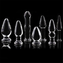 7 Size Glass Anal Sex Toy Plug Anal Beads Glass Crystal Anal Plug Butt Plugs Prostate Massage Tool Adult Game Product Goods