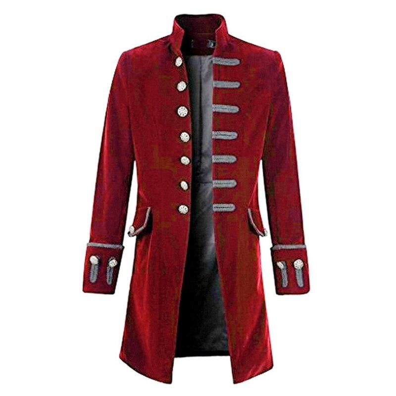 100% Wahr Heflashor 2019 Männer Steampunk Jacke Steampunk Viktorianischen Mantel Top Männer Vintage Lange Trenchcoat Mann Ausgezeichnete (In) QualitäT