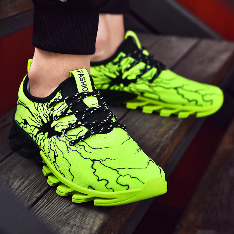 Classic Men's Casual Shoes Lightning Couple Tie Sports Shoes Unisex Lightweight Adult Fashion Trend Low Price