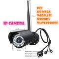 720 P Rede CCTV à prova d' água ao ar livre WI-FI câmera IP Megapixel HD câmera de Segurança Digital Sem Fio IR Infrared Night Vision
