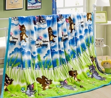 Tom and Jerry BLANKET coral fleece WINTER blankets on the bed / cartoon blanket 150x200cm twin queen team sports