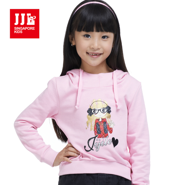 girls hoodie kids sweatshirt 100% cotton children winter bottoming shirt printed for girl spring coat children clothing