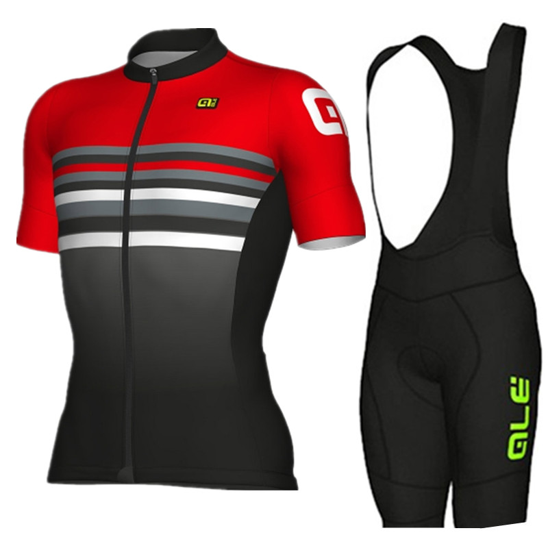 2018 ALE Short New Mens Cycling Jersey 9d Gel Pad Anti Uv Bib Shorts Set Ropa Ciclismo Quick Dry Shirts Bicycle Maillot Suit