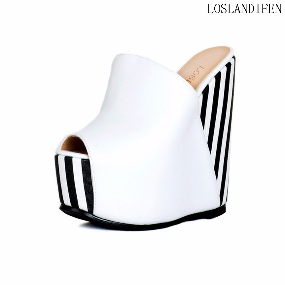 New Products Design Women Ladies Wadge Heel Sandals Slingback Peep-toe Straps Party Night-club Bar Fashion Shoes A095 leisure women s peep toe shoes with slingback and chunky heel design