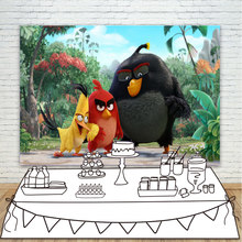 Photography Backdrops Black Red Yellow Bird Jungle Safari Photo Background Tropical Forest Photo Studio Backdrop Photocall(China)
