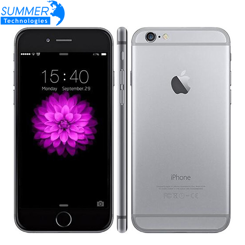 Original desbloqueado apple iphone 6 lte wcdma teléfono móvil ios Dual Core 4.7