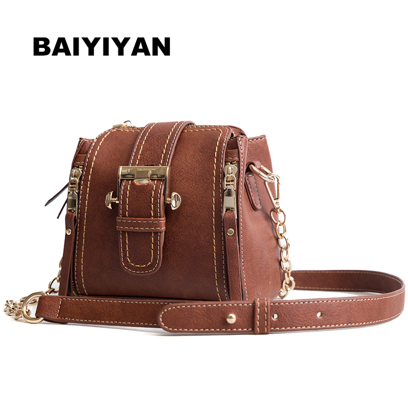 New Arrival Vintage Bucket Bag PU Leather Brand Designer Luxury Handbags Women Bags New Fashion Ladies Small Shoulder Bag 2017 new brand designer women small messenger bag pu leather solid color shoulder bag fashion vintage girls evening party bag