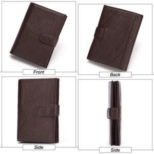 Image 4 - MISFITS Echtem Leder Männer Brieftasche Reisepass Abdeckung für Männlichen Organizer Große Kapazität Passport mit Karte Halter Geldbörse
