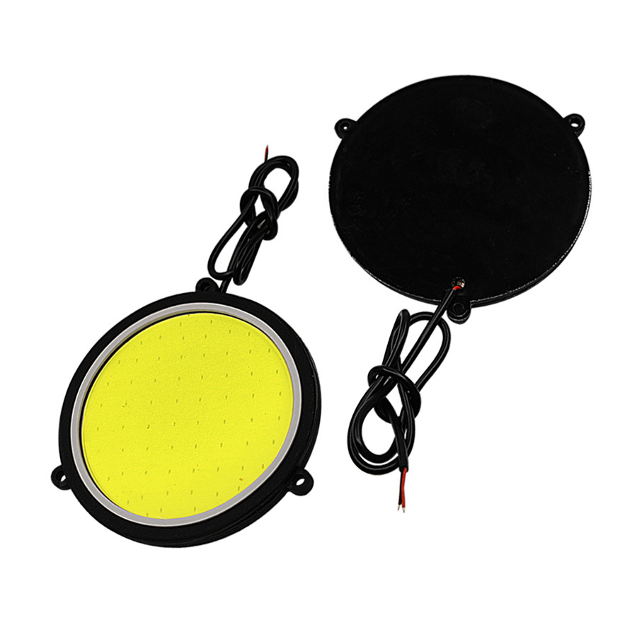 1 Pair Car LED DRL Daytime Running Light Round Shape White Color Lamp Daylights COB Headlight 12V Auto Parts in Car Light Assembly from Automobiles Motorcycles