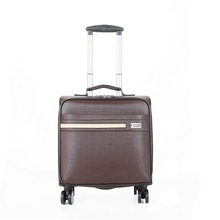 High quality PU Business luggage Box women men trolley bag Boy Vintage computer travel suitcases Spinner wheels bags bolsos