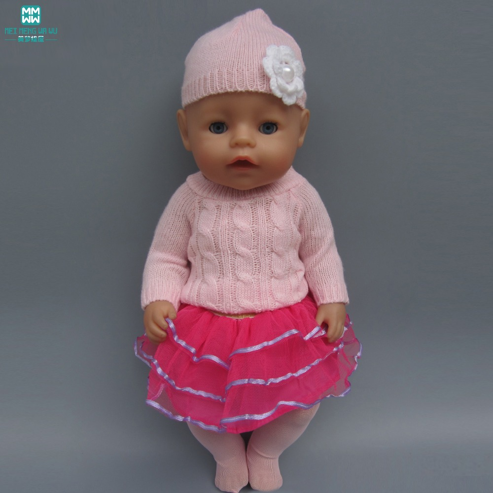 fits 43 cm Baby Born Zapf doll and American girl doll Accessories Sweaters 7719c82dbf8b