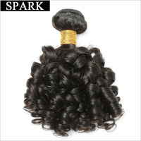 Spark Bouncy Curly Peruvian Remy Hair One Bundle Natural Curly Human Hair Extensions 8 28 Inch