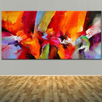 Large Size Hand Painted Modern Abstract Brush Technical Oil Painting On Canvas Abstract Wall Picture For Living Room Home Decor