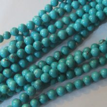 Wholesale Natural Stone Beads Blue Turquoises Beads For Jewelry Making DIY Bracelet Necklace(China)