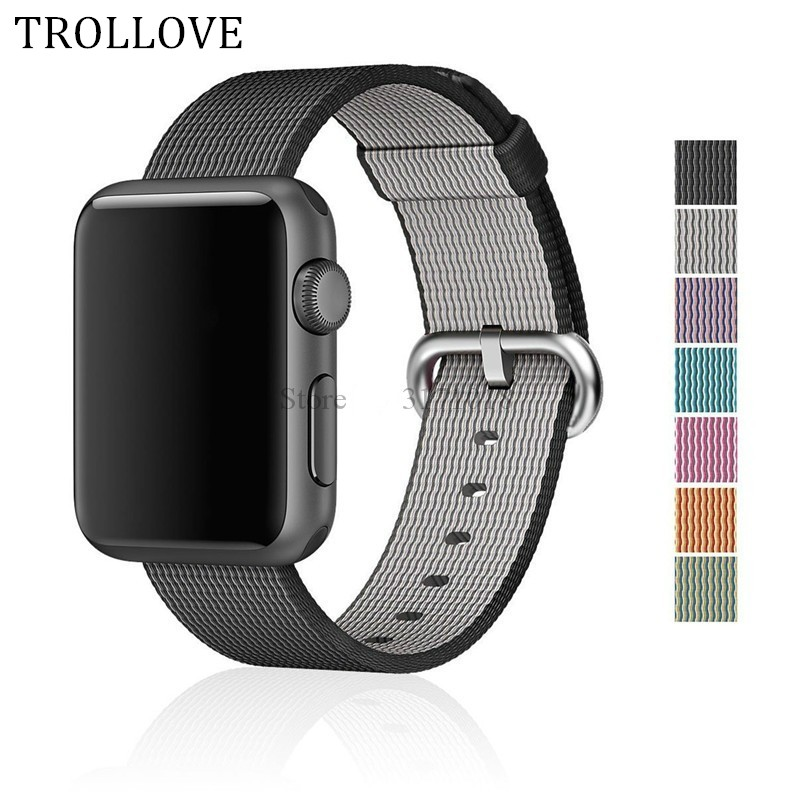 Sport woven nylon band strap for apple watch 42 mm/38 wrist braclet belt fabric-like nylon band Series 3/2/1 38MM 42MM Watchband strap for apple watch 42mm fine woven nylon adjustable replacement sport band for apple watch 38mm series 1 series 2
