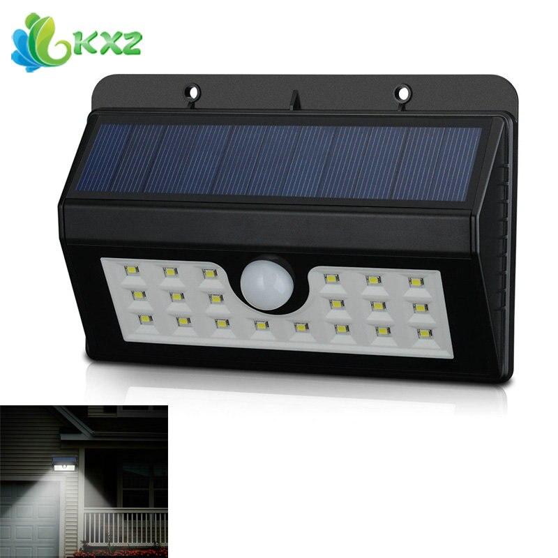 solar powered led light motion sensor outdoor waterproof
