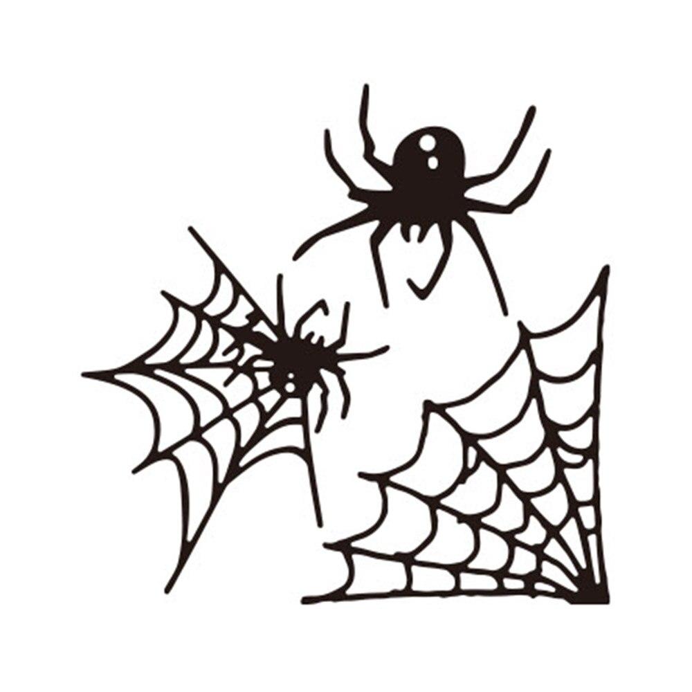 Silver YESZ Cutting Die Halloween Spider Web Cutting Dies DIY Scrapbooking Cards Embossing Stencil Mold
