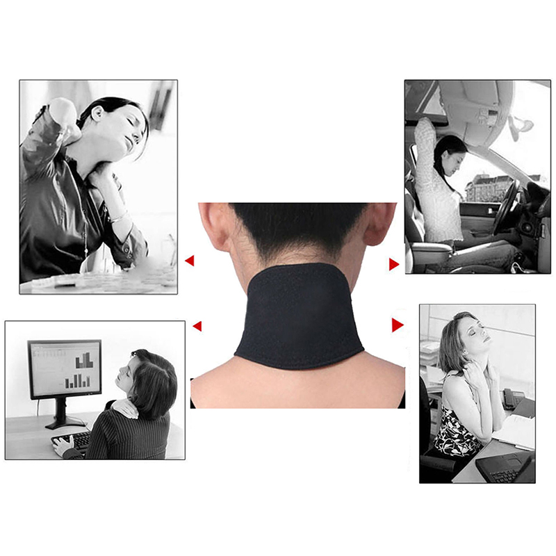 Tourmaline Neck Guard Self-heating Brace Magnetic Therapy Wrap Protect Belt Support Spontaneous Heating Neck braces X016