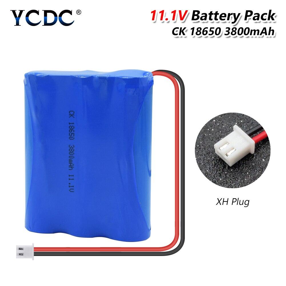 YCDC nuevo 11,1 V 3800 mAh de litio 18650 Paquete de batería Li-Ion CCTV Cámara baterías recargables para RC juguete de vacío limpiador
