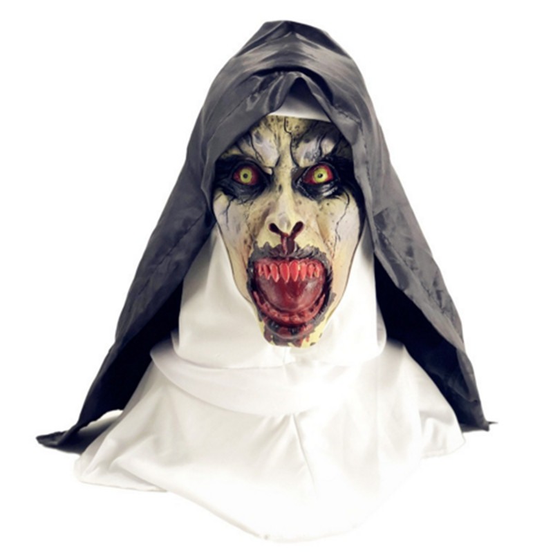 2018 Hot Selling Halloween Cosplay Devil Latex Head Mask Costume in Party Masks from Home Garden