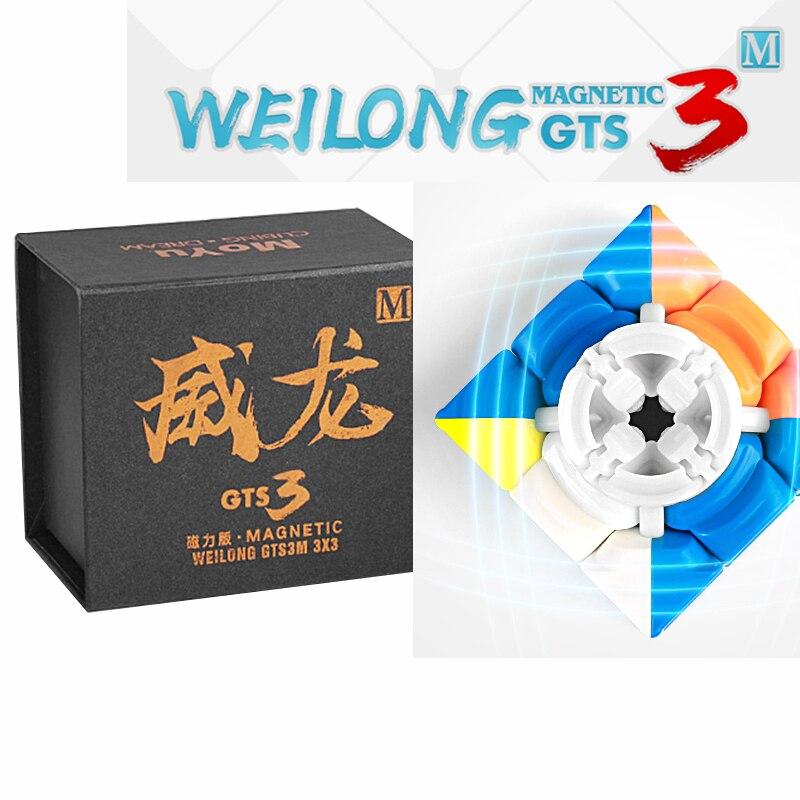 Date Moyu Weilong GTS3M 3x3x3 Cube Magique Magnétique GTS V3 En Plastique Puzzle Vitesse Cube Weilong GTS 3 M Stickerless