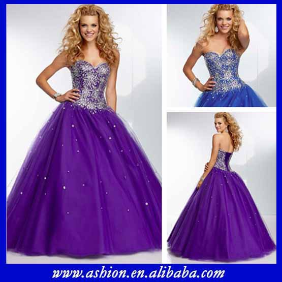 Free Shipping ED 2710 Sequined corset bodice full tulle skirt ...