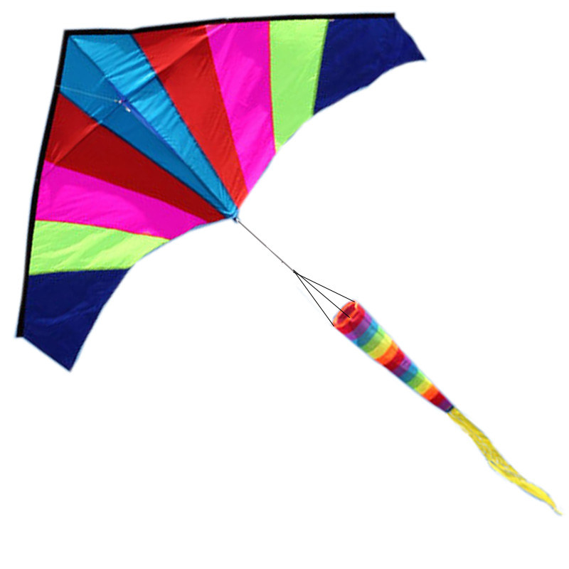 Best Large Delta Kite with Tail - Perfect for Relaxing of Fun At the Beach - Give It a Try! Good Flying That You Will Love It! the fun of it