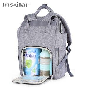 Image 4 - Sac à dos insulaire à couches pour maman, sac à couches de grande capacité pour femme, sac à dos de voyage et de soins de bébé