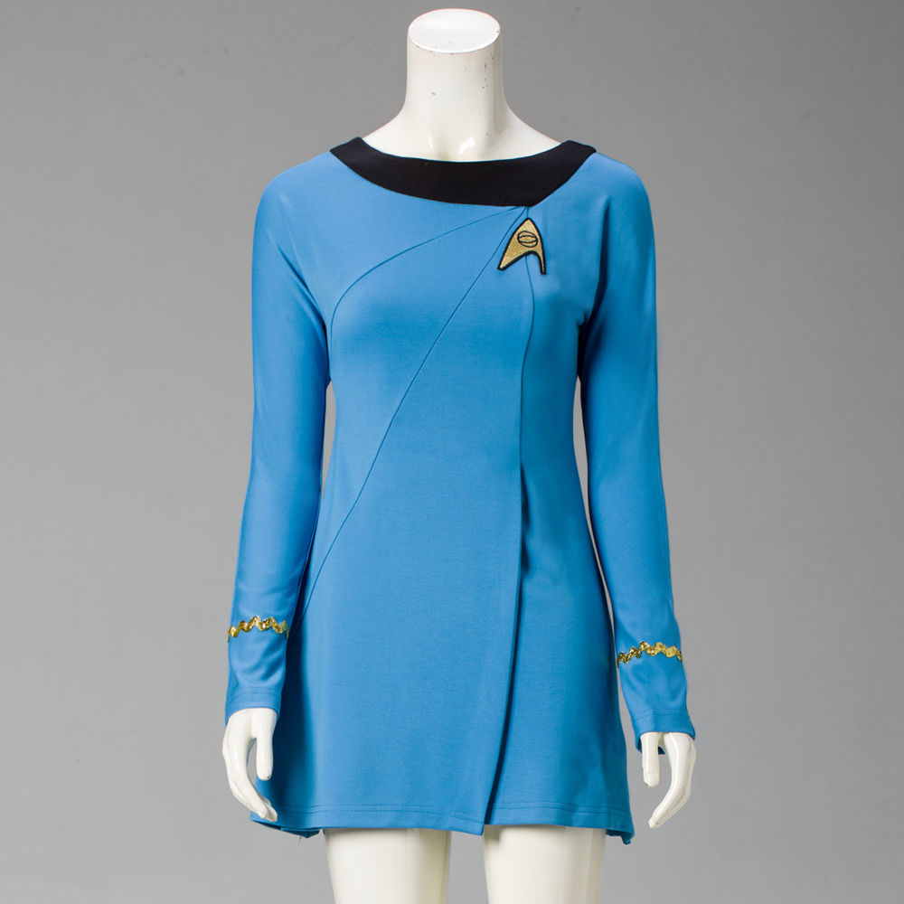 Star Trek Cosplay Uniform Cosplay Star Trek Female Duty Uniform Blue Dress Cosplay Costumes