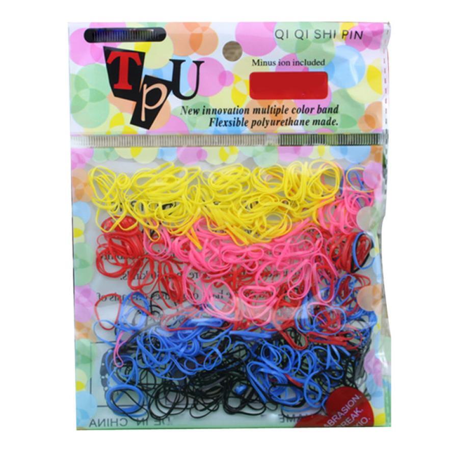 Free shipping 250-300pcs/lot Rubber Hairband Rope Ponytail Holder Elastic Hair Band Ties Braids Plaits (MIX4) m30