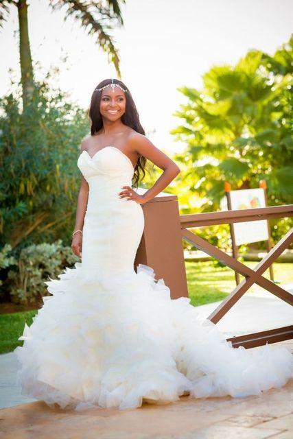 2017 Elegant African American Black Girl Princess Wedding Dress - Black Girl Wedding Dresses
