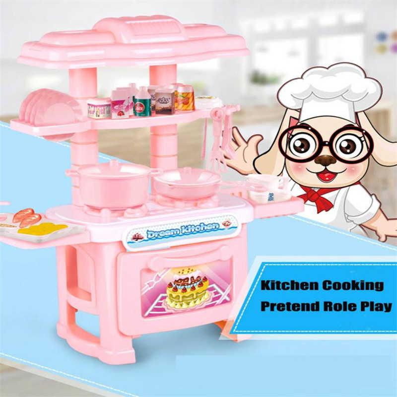 Детская кухонная игрушка, обучающая готовке ролевые игры, набор плит, легкий звук, подарок, Прямая доставка Y1208