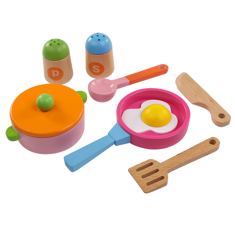 8pcs Wooden Kitchen Toys Set For Kids Food Toys Fruit And Vegetable Baby Early Education Gift For Children Toys For Girls