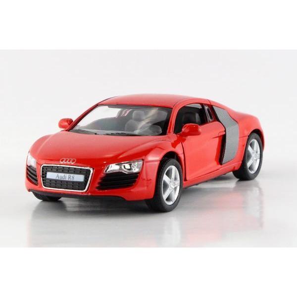 ᐂChildren Kids Kinsmart Audi ༼ ộ_ộ ༽ R8 R8 Model Car 1:36